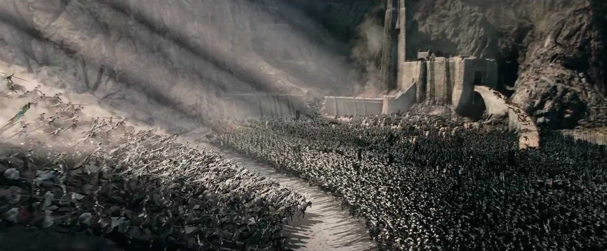 """""""The Battle of Helm」s Deep in The Lord of the Rings:The Two Towers"""" (2002)"""