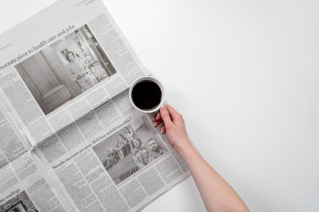 newspaper spread