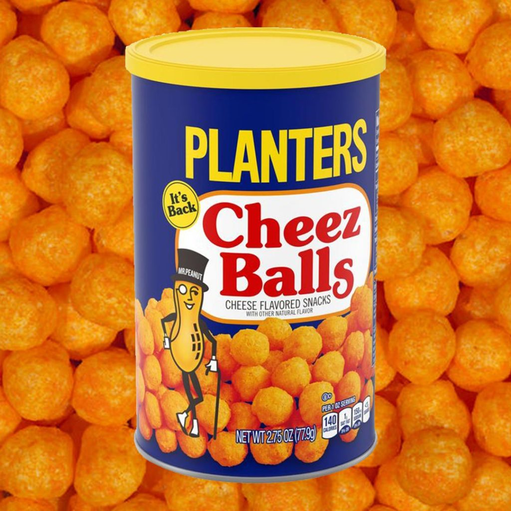 Planters Cheez Ballz container
