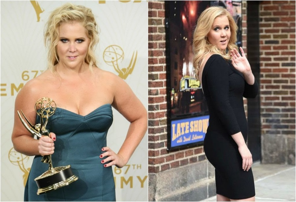 Amy Schumer before and after