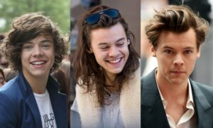 Harry Styles different hairstyles
