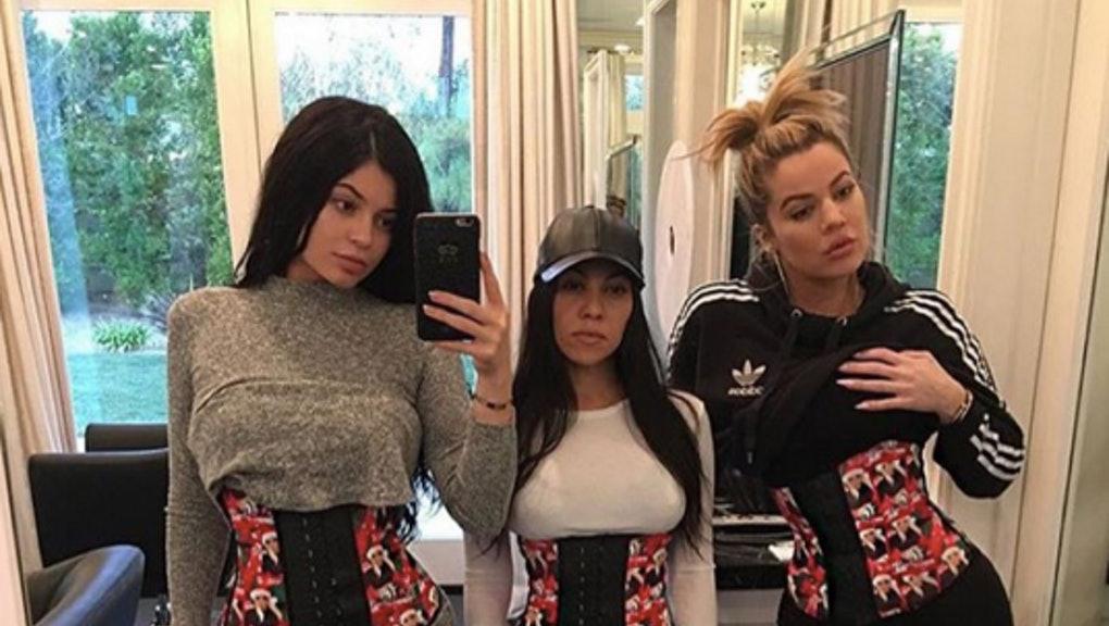 Kardashians wearing waist trainers