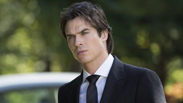 Damon Salvatore in a suit